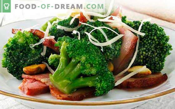Brokoļu salāti - piecas labākās receptes. Kā pareizi un garšīgi vārīti brokoļu salāti.