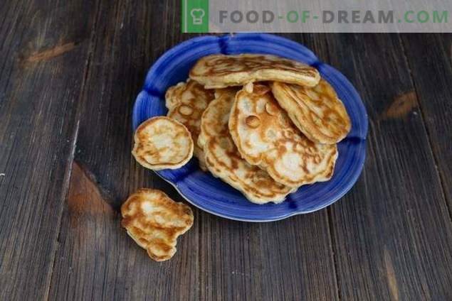 Fritters with corn and onions - real homemade fast food