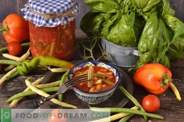 Bohnen in Tomaten für den Winter