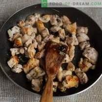Sasmalcināts pilafs ar ķirbju un gaļu Azerbaidžānas stilā