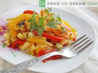 Cepti kartupeļi ar dārzeņiem