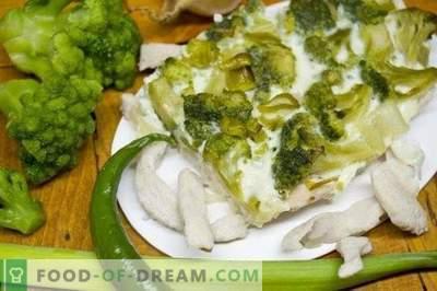 Kastrolis ar brokoļiem un vistas fileju
