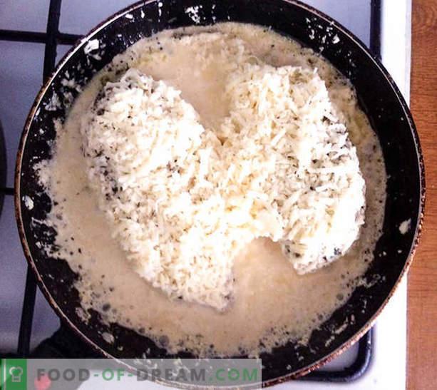 Petto di pollo in salsa di formaggio cremosa con verdure - ricetta con foto