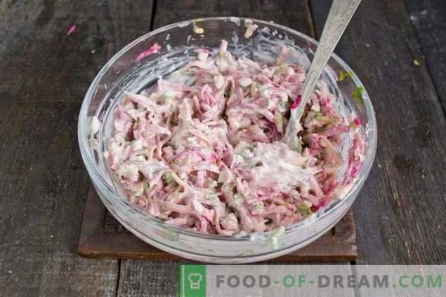 Spring radish salad with egg and mayonnaise