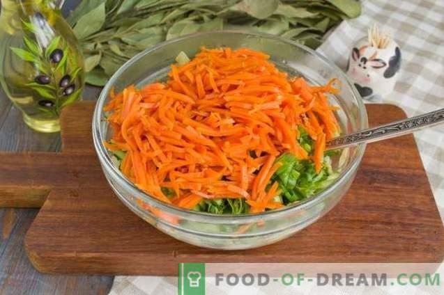 Salat mit gebratenen Pilzen und Hühnchen