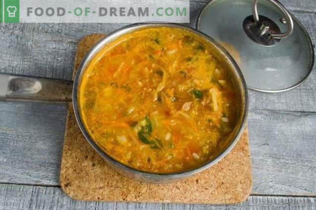 Navadna zelenjavna juha s šunko