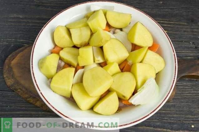 Poulet au four avec pommes de terre au four