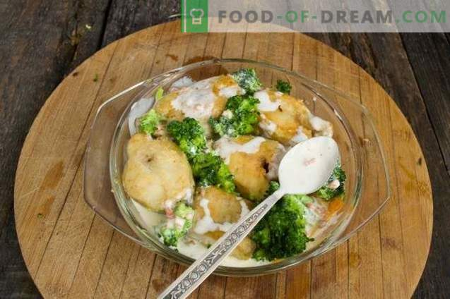Köstlicher Pollack mit Gemüse im Ofen