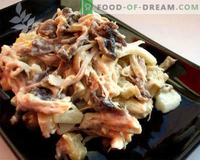 Vārītas zivju salāti - receptes darba dienās un svētku dienās