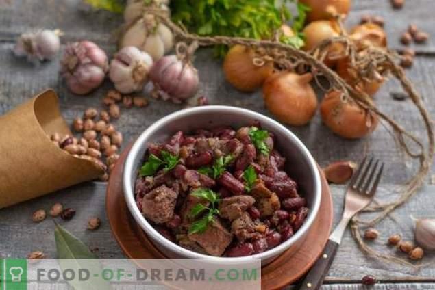 Stufato speziato con fagioli e vino rosso per la cena della domenica