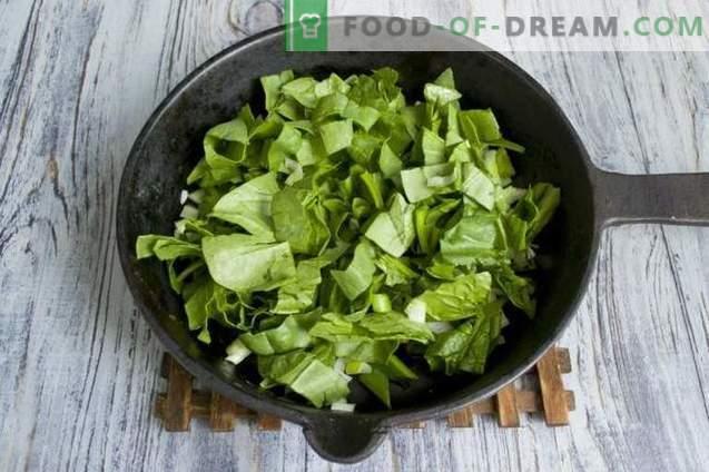 Hähnchenfiletkoteletts mit Spinat und Haferkleie