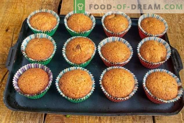 Omatehtud kuivatatud puuviljade muffinid - lihtne ja maitsev