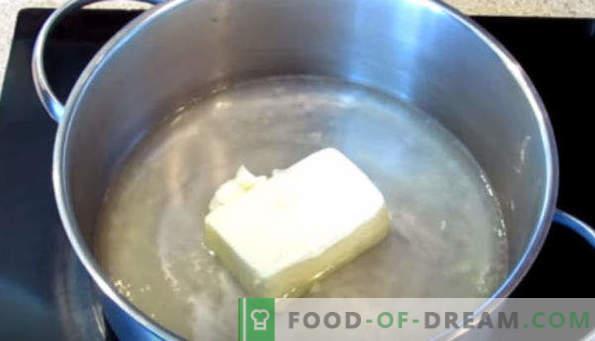 Krēmveida mīkla eklairiem, piena receptes, margarīns, augu eļļa