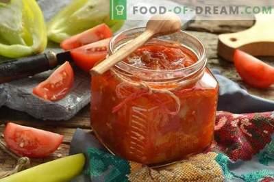 Peppers un Tomato Lecho - tāpat kā bērnībā
