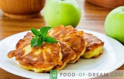 Pankūkas ar āboliem pienā - barojošas, garšīgas, smaržīgas! Receptes dažādām pankūkām ar āboliem uz piena
