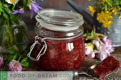 Vild jordgubbar sylt med agar-agar