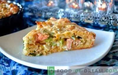 Pīrāgs ar konservētām zivīm un rīsiem - budžeta ēdiens! Kūkas ar rīsiem un zivju konserviem: rauga, pūkaina, smilšaina
