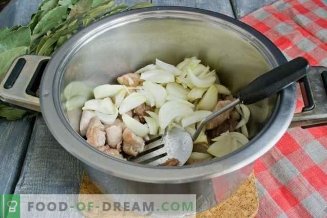 Borsch con carne e cime di barbabietola