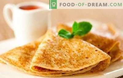 Pankūkas ar kefīru ir plānas: pakāpeniska recepte, gatavošanas noslēpumi. Mācīšanās gatavot gardas, plānas pankūkas uz kefīra