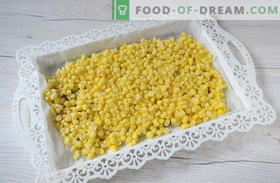 Kā iesaldēt kukurūzu graudos