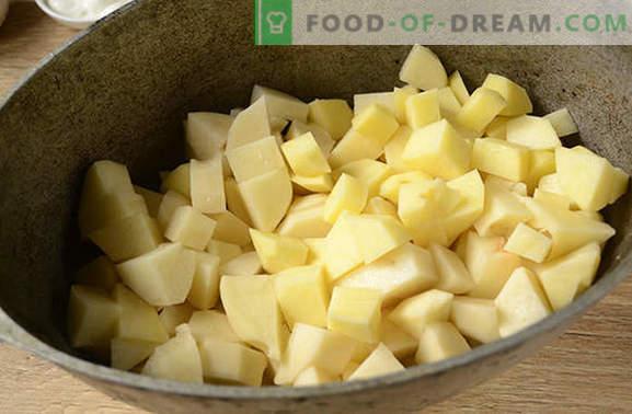 Kartupeļi ar sēnēm krāsnī ar skābo krējumu - aromātisks un barojošs ēdiens. Autora soli pa solim foto ar ceptiem kartupeļiem ar sēnēm