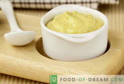 Sinepju mērce - labākās receptes. Kā pareizi un garšīgi pagatavot sinepju mērci.
