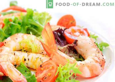 Labākās receptes ir salāti ar ķīniešu kāpostiem un garnelēm. Vārot pareizi garneļu un ķīniešu kāpostu salātus.