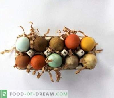 Kā krāsot olas Lieldienām ar dabīgiem produktiem