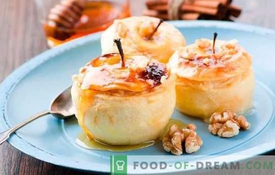 Ko gatavot āboliem ātri un garšīgi? Ātrās receptes gardiem ābolu ēdieniem: no desertiem līdz cepšanai un salātiem