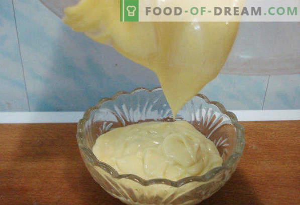Pakāpeniska recepte mājas majonēzes maisītājā