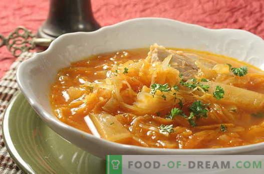 Zelja juha - najboljši recepti. Kako pravilno in okusno kuhati juho zelje.