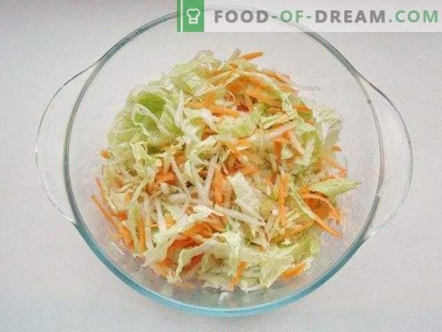 Salada fácil de repolho de Pequim