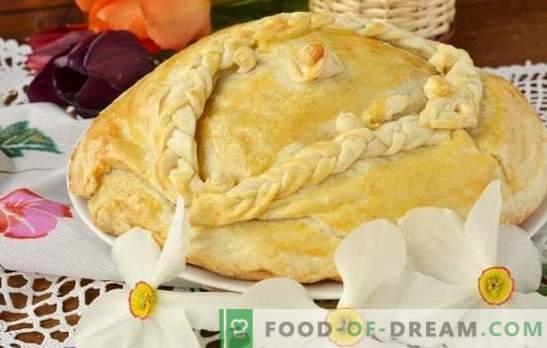Kurnik par kefīru ar kartupeļiem - sirsnīgs kūka! Vienkāršas gardu vistas zušu receptes ar kefīru ar kartupeļu cepeškrāsni un daudzkarseri
