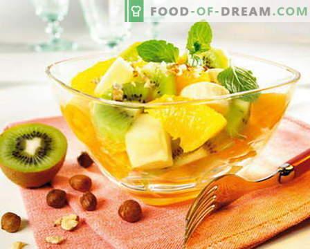 Salade de fruits - les meilleures recettes. Comment préparer correctement et délicieusement des salades de fruits.