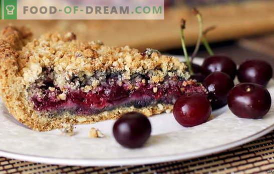 Sandy cherry pie on magus hapu rõõm. Tõestatud retseptid kirsikakookile kirssiga
