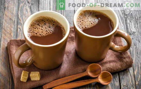 Koka kakao - mēs padarām savu mājokli laimīgu! Kā pagatavot kakao pienā, no pulvera, ar kondensētu pienu, ar medu, ar kanēli un marshmallows