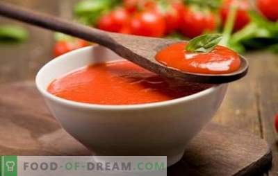 Tomātu mērce mājās - protams! Mājas tomātu mērce no svaigiem tomātiem, tomātu pastas vai sulas, ar čili pipariem, garšaugiem, ķiplokiem