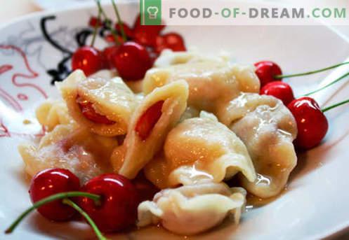 Dumplings aux cerises - les meilleures recettes. Comment bien cuire des boulettes de pâte avec des cerises à la maison.