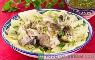 Bešbarmaka no cūkgaļas - receptes gardu turku valodā runājošu tautu ēdieniem. Kā pagatavot beshbarmak no cūkgaļas?