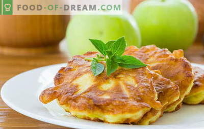 Pancakes with apples - tasty and healthy pastries without the hassle. Traditional and original recipes fritters with apples