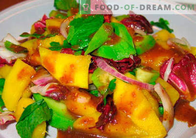 Mango salāti - labākās receptes. Kā pareizi un garšīgi pagatavoti salāti ar mango