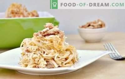 Makaroni ar sēnēm krēmveida mērcē - aromātisks ēdiens katru dienu. Labākās receptes makaroniem ar sēnēm krēmveida mērcē