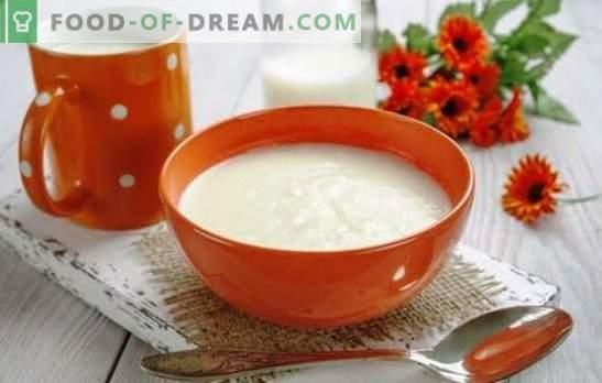 Manų kruopos su pienu be gabalėlių - puikus! Geriausi receptai ir valgymo manų kruopos paslaptys piene be gabalėlių