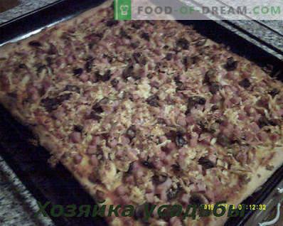 Pizza casera, receta de cocina con fotos paso a paso