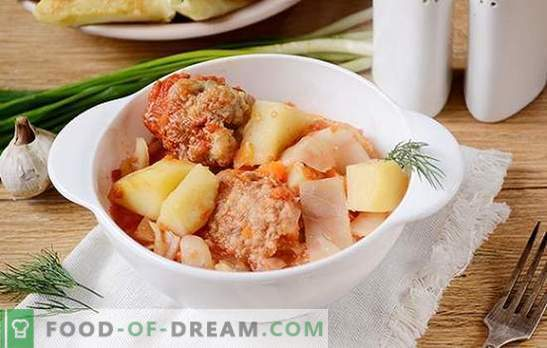 Dārzeņu sautējums ar gaļas bumbiņām lēnā plītī: sirsnīgs un skaists ēdiens. Autora soli pa solim gatavojot ēdienu dārzeņu sautējumā multicooker
