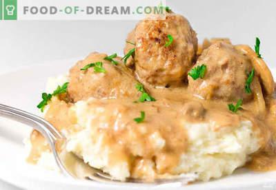 Mesne klobase v omaki iz kisle smetane - dokazani recepti. Kako pravilno in okusno kuhane mesne kroglice v omaki iz kisle smetane.