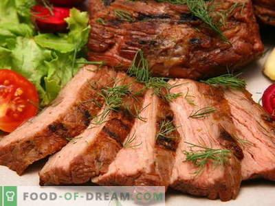 Meso, pečeno v pečici - najboljši recepti. Kako pravilno in okusno kuhati meso v pečici.