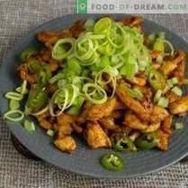 Salade diététique au poulet sans mayonnaise