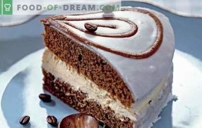 Kafijas kūka ir smaržīgs deserts visiem kafijas mīļotājiem. Labākās kafijas tortes receptes: vienkāršas, ar augļiem, ar meringu, bez cepšanas