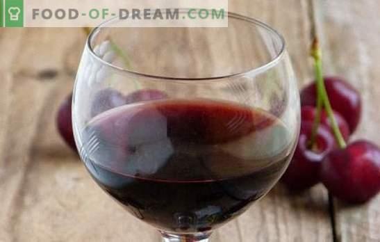 Vyšnių vyšnios: pagrindiniai vyno gaminimo punktai. Naminių vyšnių vynų receptai